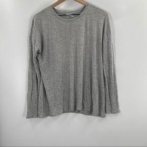 Vince- Grey Long Sleeve Basic Tee